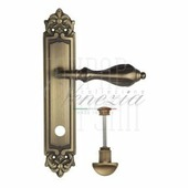 Дверная ручка на планке Venezia Anafesto PL96 матовая бронза wc