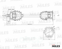 Привод В Сборе Audi A4 Ii 1.8t-3.0 00-05 Прав. Abs Miles арт. GC02007