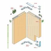 Система для двери-книжка SiscoSistem PB2A на полотно до 60 кг система дверь-книжка
