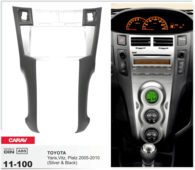 CARAV 11-100 - Toyota Yaris, Vitz, Platz 2005-2010 (Silver) 2-DIN