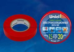 Изолента Uniel UIT-135P 20/15/01 RED