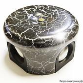 Ретро коробка Царский стиль, цвет Черный мрамор, 78 мм