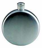 Карманная фляга AceCamp «S/S Flask Round shape 5OZ» (0.15 л), стальной, размер: 150 мл