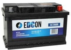 Аккумулятор для легковых автомобилей Edcon (72 A/h), 680A R+ (DC72680R)