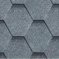 Гибкая битумная черепица RoofShield Стандарт Premium C-S-14 Серый
