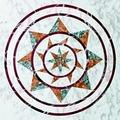 Кварцвиниловая плитка (ламинат) Decoria Мрамор DMO 006, Мозаика Звезда
