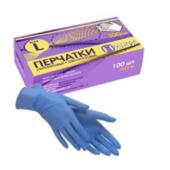 Перчатки нитриловые неопудренные (L), 100 шт/упак, (HANS)