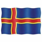 Maritim Флаг Аланских островов из полиэстера 46 x 75 см 46075-30046