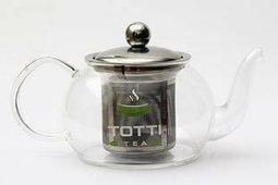 """Чайник стеклянный """"TOTTI TEA со стальным фильтром"""" 600 мл"""