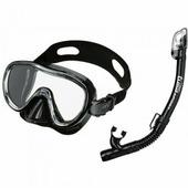 Комплект TUSA SPORT детский маска+трубка (Черный)