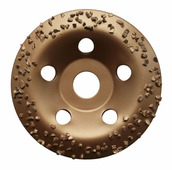 Чашка твердосплавная Практика, для камня и бетона, 125 х 22 мм наклонный, зерно # 8 крупное {773-590}