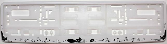 "Рамка под номер ""Кошки"", цвет: белый"