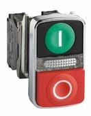 Лампы, кнопки, звонки, переключатели Кнопка двойная с маркировкой + LED Schneider Electric
