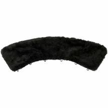 Воротник из искусственного черного меха, чёрный, размер: 52-54