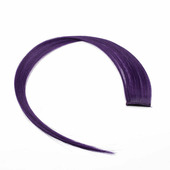 Прядь искусственная однотонная 50 см, цвет темно-фиолетовый