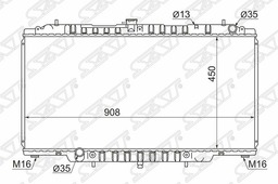 Радиатор Nissan Patrol/Safari Rd28/Td42/Zd30 98-10 Sat арт. NS000Y61D