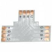 Коннектор для светодиодной ленты Ecola LED connector гибкая соед. плата T для зажимного разъема 4-х конт. 10 mm уп. 5 шт. SC41FTESB