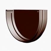 Заглушка водосточной воронки (желоба) Docke Premium D-120, Шоколад