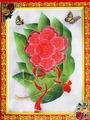 Наклейка ЛиС Объемная картина-наклейка из пластика 32х42см, Цветы, PLA пластик