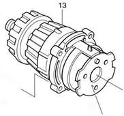 редуктор в сб. 8413/8443/8443/BHP460 (125165-8) MAKITA 125165-8