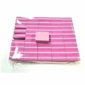 Мини-баф, 100/180, розовый. 50 штук в упаковке. Nail Service