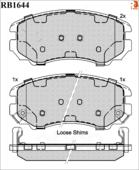 Дисковые Тормозные Колодки R Brake R BRAKE арт. RB1644