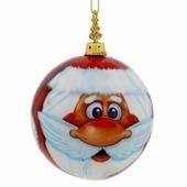 """Новогоднее подвесное украшение Sima-land """"Дед Мороз"""", диаметр 8 см"""