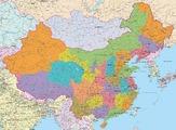 Политическая карта Китая 140 х 105 см OffGroup