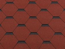 Гибкая битумная черепица RoofShield Стандарт Family Красный с оттенением