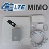 Панельная направленная Антенна MIMO 19/20 дБ BOX 4G LTE / 3G (1700-2700 МГц) со встраиваемым модемом Huawei / ZTE