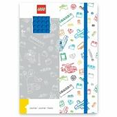 LEGO Книга для записей с резинкой 51842 Сине-белая