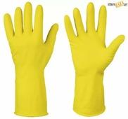 Перчатки хозяйственные латексные, размер L, шт