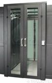Автоматические раздвижные двери коридора 1200мм для шкафов LANMASTER DCS 48U, стекло, key-card замок LAN-DC-SDRAL-48Ux12