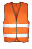 Жилет сигнальный, р-р 58-62, ГОСТ, оранжевый флуоресцентный со световозвращающими лентами. PROTECT