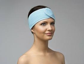 Повязка для волос махровая на липучке