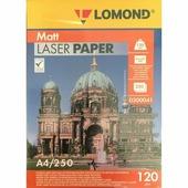 LOMOND Матовая фотобумага 2х120г,250л,А4 для лазерн. (300041)