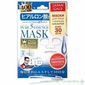 JAPAN GALS Pure 5 Essence Маска для лица, курс 30шт, с гиалуроновой кислотой | 30шт | Pure 5 Essence Mask, Hyluronic acid, 30P