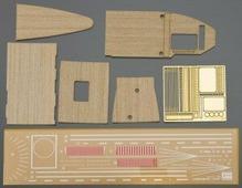 Hasegawa Деревянная палуба военного корабля Akagi (три экипажа) 1:700