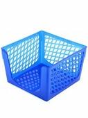 """Подставка для бумажного блока """"Офис-Класс"""", синяя, 9*9*7 см (Юниопт)"""