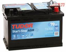Автомобильный аккумулятор Tudor Start-Stop AGM TK700 (70 A/h), 760A R+
