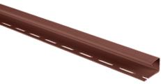 J-профиль для сайдинга Альта-Профиль Красно-коричневый