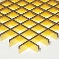 Потолок грильято Люмсвет золото 100*100*50 мм