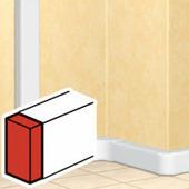 Заглушка торцевая - для односекционных кабель-каналов 50х150. Цвет Белый. Legrand DLP (Легранд ДЛП). 010703