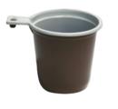 Чашка с ручкой одноразовая полипропиленовая, 200 мл. (бело-коричневая). В упаковке 50 шт.