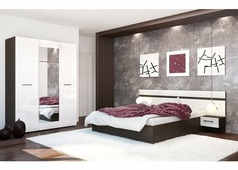 Спальня Нэнси (Венге, белый глянец)