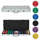 Набор для игры в покер Russian Poker (500 фишек с номиналом в кейсе), RusP500