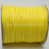Шнур Вощеный, 2 мм, Полиэстер, Желтый, 1 м