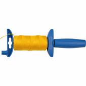 Отвес строительный со шнуром ЗУБР 50 м, нейлоновый, желтый, шнур для строительных работ 06410-50