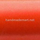 Атласная Лента Skroll, Ширина: 12 мм, Ярко-оранжевый