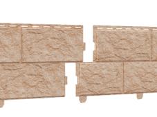 Сайдинг наружный виниловый Ю-пласт Стоунхаус Камень золотистый (двойной замок)
